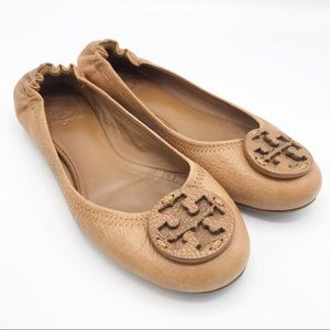 Tory Burch Brown Leather Flat Loafers Size 6